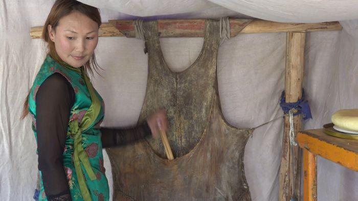 Mongolei Produktion Mongolin